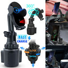 15W Qi Fast Charging Wireless Car Charger Cup Mount Holder Stand For Cell Phone