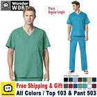 WonderWink Scrubs Set WORK Men's Multi-Pocket Top  Straight Cargo Pant 103/503