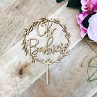 CLEARANCE 1 ONLY in Timber Oh Babies Wreath Cake Topper Boho Baby Shower cake to