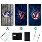Columbus Blue Jackets Leather Passport Holder Cover Case Travel Wallet $7.99 USD on eBay