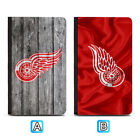 Detroit Red Wings Leather Passport Holder Cover Case Travel Wallet $7.99 USD on eBay