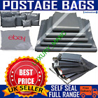 Grey Mailing Bags Strong Poly Postal Postage Post Mail Self Seal All Sizes