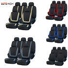 9Pcs Auto Seat Covers Front Rear Head Rests Set Universal for Car Truck SUV Van $16.95 USD on eBay