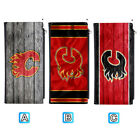 Calgary Flames Long Thin Leather Wallet Clutch Purse Card Holder $13.99 USD on eBay