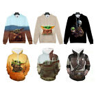 3D Cartoon Baby Yoda Star Wars Mandalorian Hoodie Sweater Pullover Sweatshirt $20.99 USD on eBay