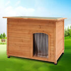 Solid Wooden Outdoor Dog House Dog Kennel Weather Resistant Dog Sleeping Home UK