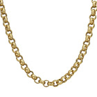 Heavy 18k Gold gf Belcher Chain Necklace Bracelet Mens Womens