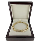 18k Gold gf Stars And Bars Bracelet Necklace Ladies Solid Women star bar