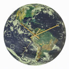 3D Night Glow Luminous Earth Continents Wall Clock Silent Home Wall Decoration