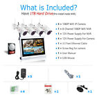"ANRAN 1080P Security Camera System Wireless 4 8CH 15""Monitor CCTV 1TB Outdoor"