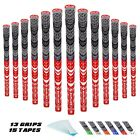 Golf Grips Midsize Multi Compound Cord (13 Grips+15 Tapes) 6 Colors Optional