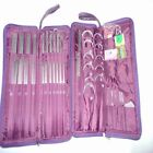 104pcs Knitting Needles Stainless Steel Hook Weave Hand Sewing Accessories Set