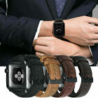 Genuine Leather Watch Band Wrist Strap Belt For Apple iWatch Series 1 2 3 4 5 image