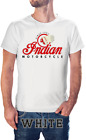 NEW INDIAN MOTORCYCLE LOGO VINTAGE HIPSTER RETRO T SHIRT 52 USA SIZE image