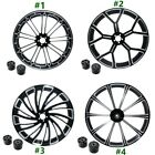 18/21/23/26'' Black Front Wheel Rim Dual Disc W/ Hub Fit For Harley Touring 08