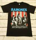 "RAMONES - "" HEY HO LET'S GO"" - BAND T-SHIRT NEW BLACK T SHIRT ADULTS/KIDS S-3XL image"