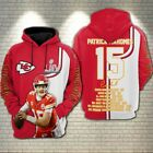 Patrick Mahomes Kansas City Chiefs Super Bowl LIV 3D Hoodie Full Printing $43.99 USD on eBay