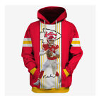 Patrick Mahomes Signature Kansas City Chiefs Super Bowl LIV 3D Hoodie $43.99 USD on eBay