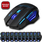2400DPI LED Computer 7 Button Wireless Gaming Mouse Optical Game PC Laptop Mice