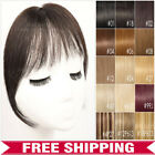 100% Remy Human Hair Bangs Clip In Hair Piece Extensions Air Fringe Black Brown
