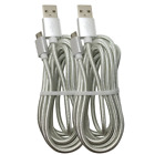 10Ft Braided Micro USB Cable Samsung S7 S6 LG Android Charger Charging Cord Lot
