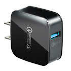 18W QC 3.0 Quick USB Wall Charger Adapter Fast Charge US Plug For iPhone Samsung