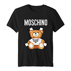 T-Shirt 2020 Moschino Milano Bear T-Shirt Cotton Size US S-5XL for Men and Women image