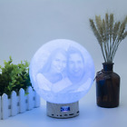 Personalized Photo 3D Printed Lamp Bluetooth Speaker Moon Light Gift For Women