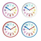 Acctim Wickford Kids Wall Clock Helps Teach Children To Tell Time Colourful Fun