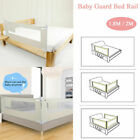 59'-79' Foldable Toddler Bed Rail Baby Crib Side Safety Guard Kid Infant Bedrail