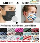 100% Cotton Face Mask Adult & Kids Reusable Washable Mouth Covering Protection
