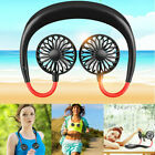 Kyпить USA USB Rechargeable Neckband Lazy Neck Hanging Dual Cooling Portable Mini Fan на еВаy.соm