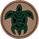 "Celtic Turtle Patrol Patch - 2"" Round Embroidered Patch (247)"