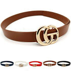 Women Fashion Genuine Leather G&Logo Belts Jeans With Letter G&buckle Belt Gift
