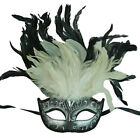 New Party Masquerade Venetian Mask with Feathers