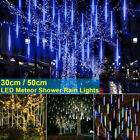 30/50CM LED Meteor Shower Light 10X Waterproof Falling Rain Icicle Outdoor Decor
