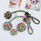 Play Bite Cotton Pet Teeth Ball Braided Cotton Dog Rope Toy Node Puppy Chew
