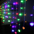 96/216 LED Outdoor Christmas String Fairy Wedding Party Heart Light Lamp Decor