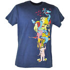 Design By Humans Man Painting Art Heather Blue Graphic Tshirt Adult Tee
