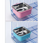 Stationary Dog Feeding Pet Bowl Stainless Steel Plastic Casing Feeder Bowls YW
