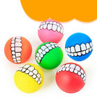 pet dog ball teeth funny silicon toy chew squeaker squeaky sound dogs play HRIB