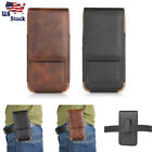 Mens Vintage Leather Cell Phone Waist Bag Holster Smartphone Pouch Case Purse US