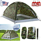 Outdoor Camouflage Camping Tent for 2 Person Single Layer Waterproof Hiking US