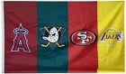 Los Angeles lakers & SF 49ers & Anaheim Ducks & Anaheim angels flag 3x5FT banner on Ebay