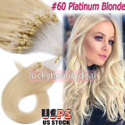 Micro Ring Loop Tip Remy Human Hair Extensions Straight Micro Beads Link Hair US