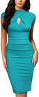 Miusol Womens Business Slim Style Ruffle Work Pencil Dress