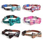 Dog Collar Original Design Leather Pet Collar With Bow Decoration UK SALE