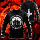 Satanic Tribal No Gods No Masters Think For Your Fvking Self Hoodie 3D Print