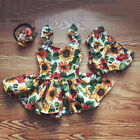 Kyпить Sweet Newborn Kids Baby Girls Sunflower Top Dress+Bottoms Shorts Outfit Clothes на еВаy.соm