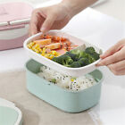 Double Layer Lunch Box Portable Picnic Food Snack Fruit School Storage Container